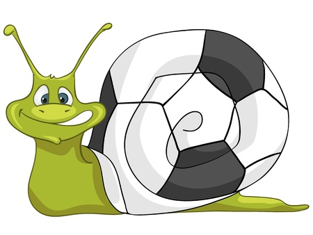 Cartoon Character Snail Vector