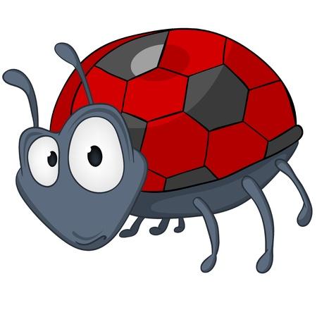 babyish animal: Cartoon Character Ladybird