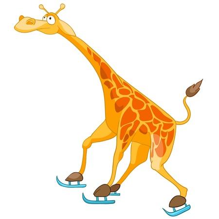 Personagem de desenho animado girafa