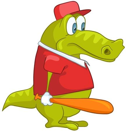 isolated: Cartoon Character Crocodile