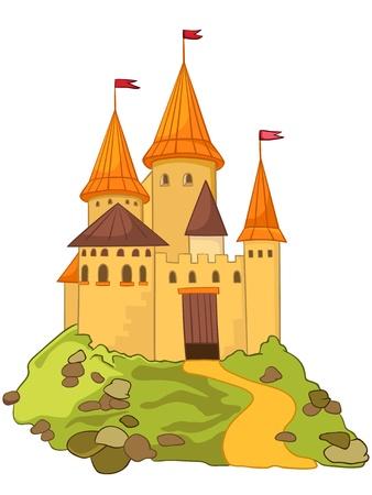 Cartoon Castle Reklamní fotografie - 12043646