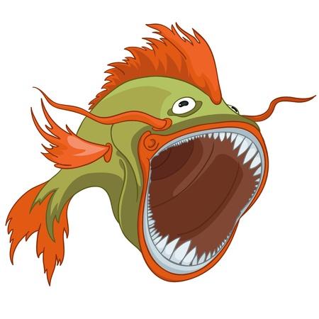 caricatura: Personaje de dibujos animados de pescado