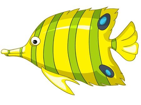漫画のキャラクターの魚