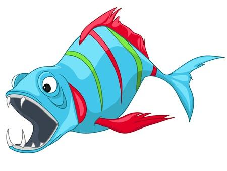 unfriendly: Cartoon Character Fish