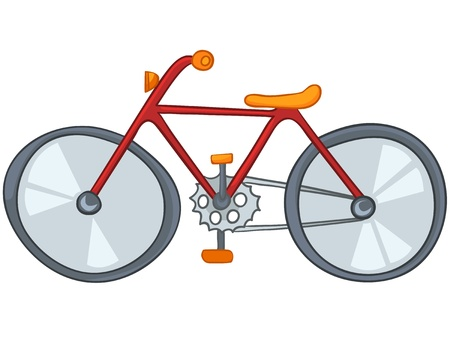 bicycle pedal: Cartoon Bicycle