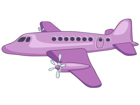 Cartoon Airplane Illustration