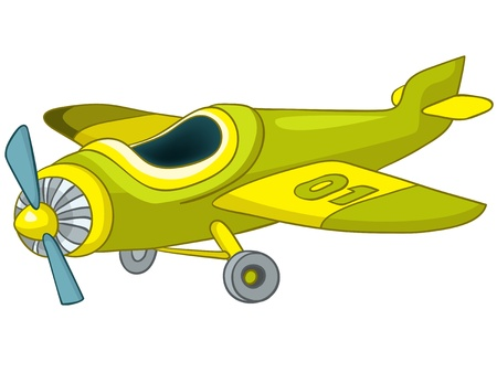 avi�n juguete: Avi�n de dibujos animados Vectores