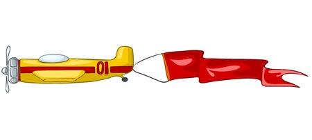 Cartoon Airplane Иллюстрация