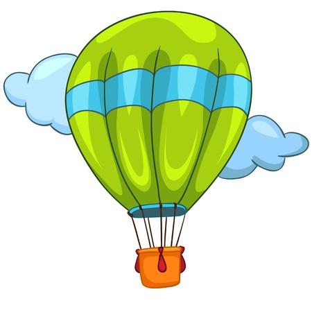 luftschiff: Karikatur-Balloon