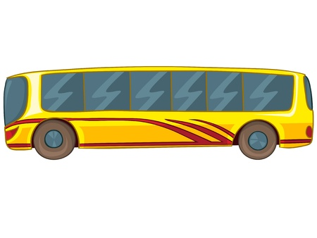 motor coach: Cartoon Bus Illustration