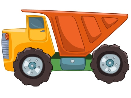 capot voiture: Truck Cartoon