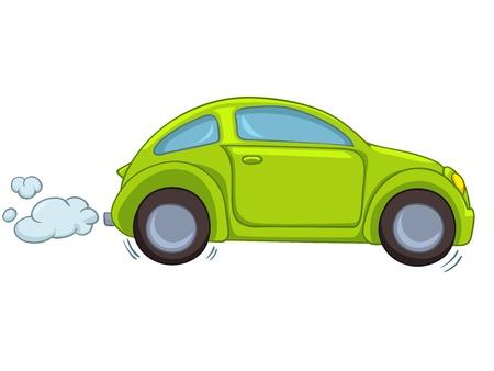 white car: Cartoon auto