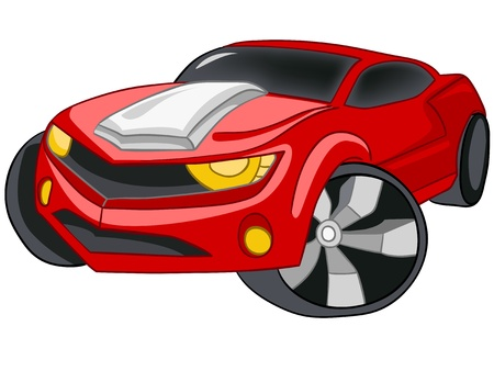 car wheel: Cartoon Car
