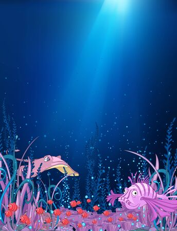 Ocean Underwater Cartoon photo