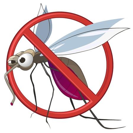 volar: Dibujos animados de Mosquitos de STOP