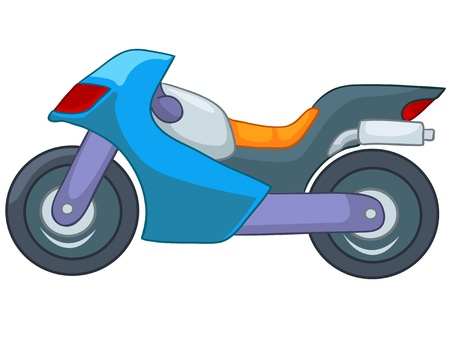 transportation cartoon: Cartoon Motorcycle