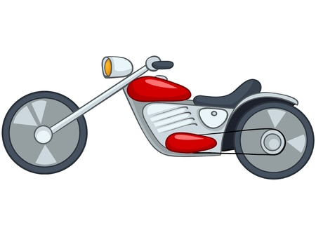 racing: Cartoon Motorcycle