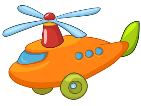 transportation cartoon: Cartoon Helicopter