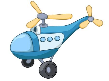 Cartoon elicottero Archivio Fotografico - 12137214