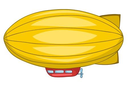 flying float: Cartoon Dirigible