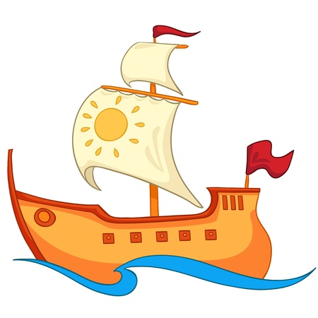Cartoon Ship Stock Vector - 12137191