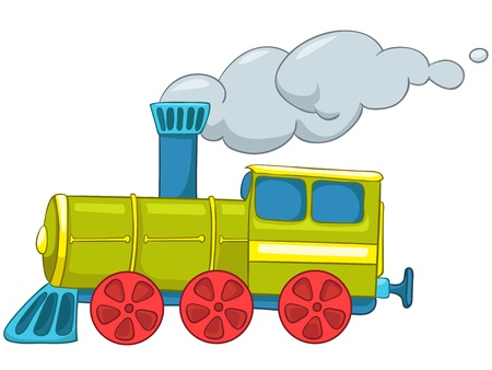 Cartoon Train 일러스트
