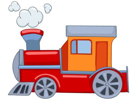 train cartoon: Cartoon Train Illustration