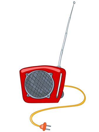 Cartoon Appliences Radio Vector