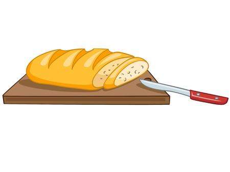 clip art wheat: Cartoon Food Bread