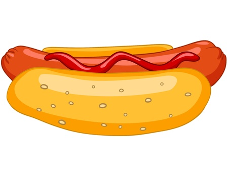 bun: Cartoon Food Hotdog