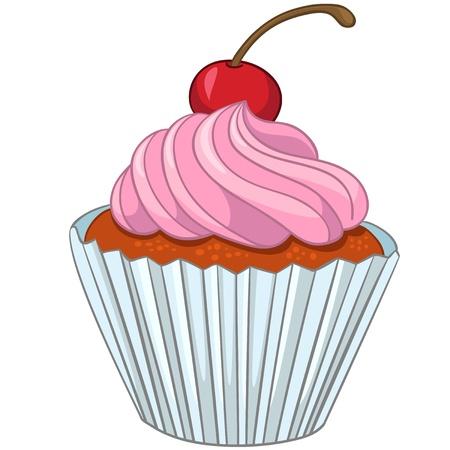 漫画食品甘いカップケーキ