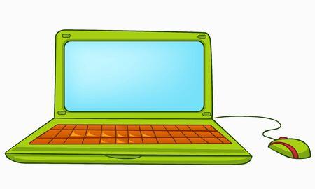 Cartoon Appliences Laptop Stock Vector - 12137213