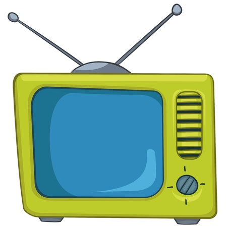 retro tv: Cartoon Appliences Old TV