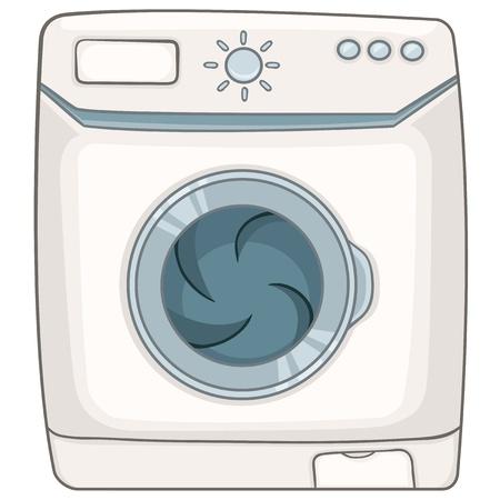 launder: Appliences Cartoon Lavadora