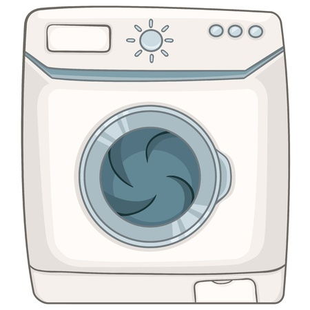 Cartoon Appliences Washing Machine Stock Vector - 12372128