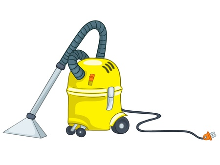 cleaning equipment: Cartoon Appliences Vacuum Illustration