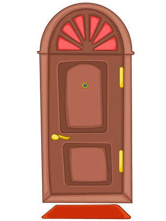 Cartoon Home Door Stock Vector - 12372148