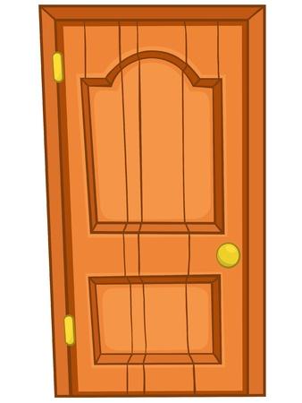 Puerta principal de dibujos animados