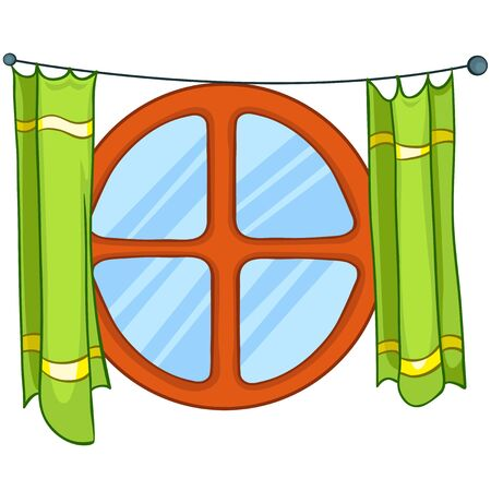 windows frame: Cartoon Home Window Illustration