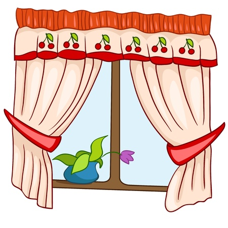 Cartoon Home Window Illustration