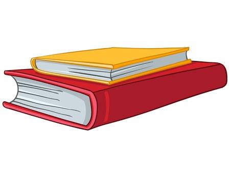 Cartoon Home Books Ilustrace
