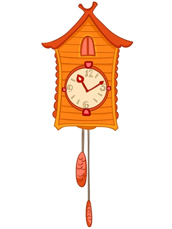 Cartoon Home Clock Stock Vector - 12372150