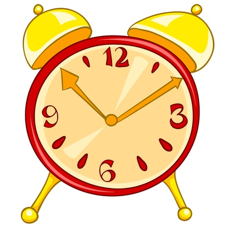 Cartoon Home Clock Stock Vector - 12372132