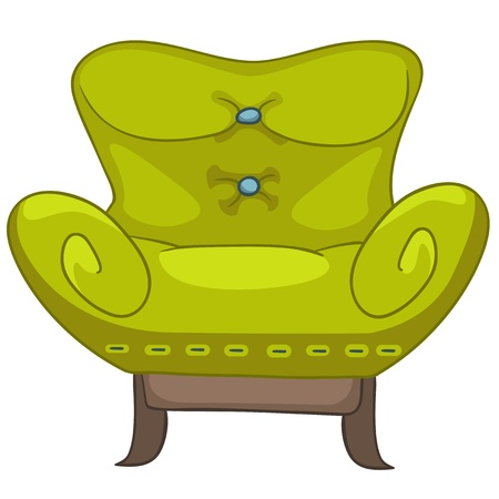 Cartoon Home Furniture Chair Stock Vector - 12372162