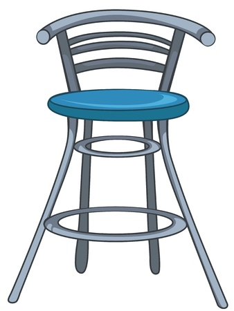 Cartoon Home Furniture Chair Vector
