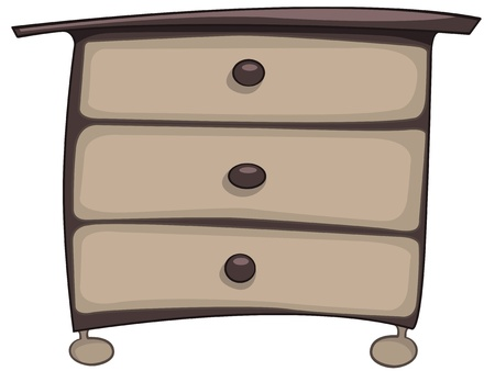 Cartoon Home Furniture Chest of Drawers Stock Vector - 12372173