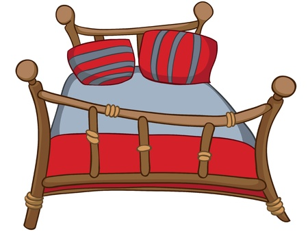 furniture: Cartoon Home Furniture Bed