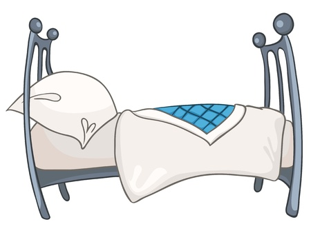 Cartoon Home Furniture Bed Vector