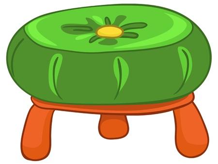 만화 홈 가구 의자 일러스트