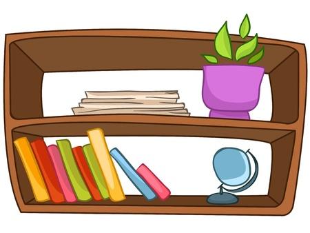 Cartoon Home Meubelen Boekenplank